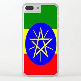 Flag of Ethiopia Clear iPhone Case