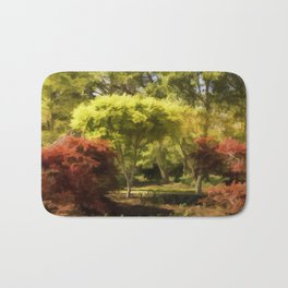 A Walk In The Woods Painting Bath Mat