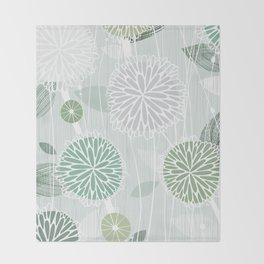 Abstract Floral by Friztin Throw Blanket