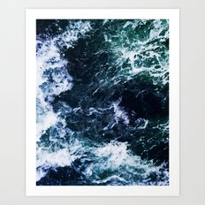 Wild ocean waves Art Print