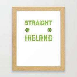 St Patricks Day Irish Drunk Beer Paddy Gift Framed Art Print