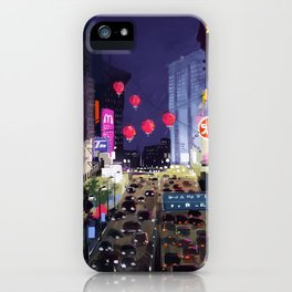 Night city street iPhone Case