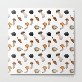 Mushroom seamless pattern Metal Print