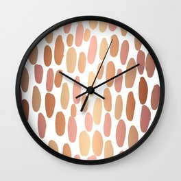 Dabs metallic dot abstract minimal painting shiny copper gold art and decor Wall Clock