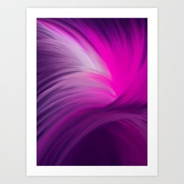 Pink and Purple Swirl Interior Design Art Print