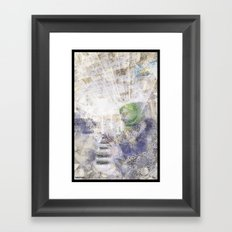 GREEN PIANOFORTE Framed Art Print