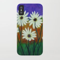White daisies-Abstract iPhone X Slim Case