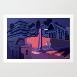 Federal City Lonely in the Night Art Print