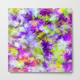 Potpourri in Purple and Lime Metal Print