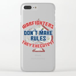 Dream Plan Execute T-shirt Design Warfighters Clear iPhone Case