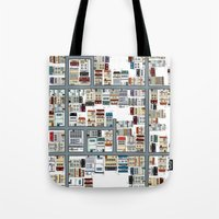 the neighbourhood Tote Bags featuring Neighbourhood pattern by Rceeh