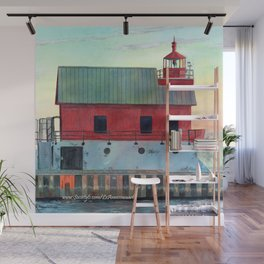 Grand Haven Outer lighthouse Focus Wall Mural