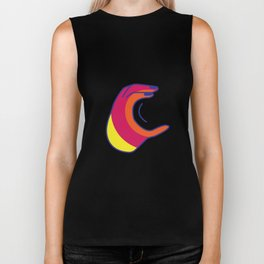 C design sign language Biker Tank