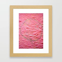 Smile on a pink toilet paper Framed Art Print