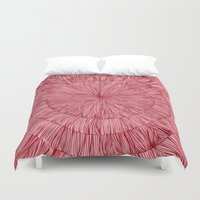 pulp Duvet Covers featuring Pulp Fig by Anchobee