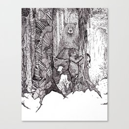 A Grizzly Story Canvas Print