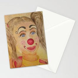 Ficelle à l'aquarelle, clown Stationery Cards