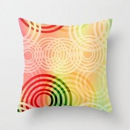 Fabulous Circles Throw Pillow