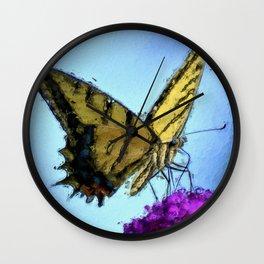 Butterfly (Synhetextureus) Wall Clock