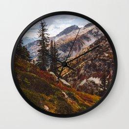 Alpine Autumn Wall Clock