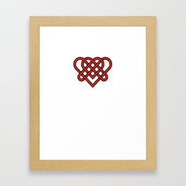 Celtic He Loves Me He Loves Me Knot Framed Art Print