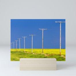Wood Telephone Poles Canadian Prairies Mini Art Print