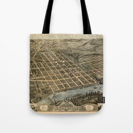 Map Of Knoxville 1871 Tote Bag