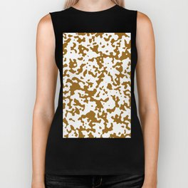 Spots - White and Golden Brown Biker Tank