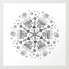 Summer Camp Mandala Art Print