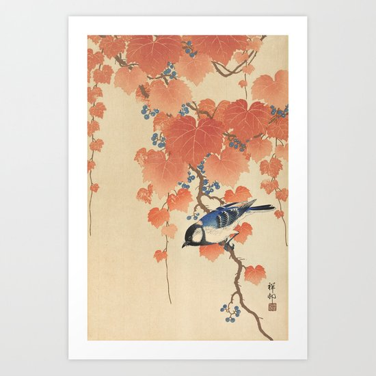Ohara Koson - Japanese Bird Blockprint by fineearthprints