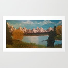 Mountiam Range Art Print