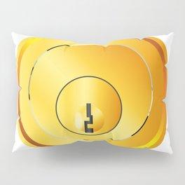 Brass Front Door Lock Pillow Sham