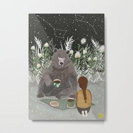 TEA BEAR Metal Print