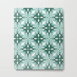 Watercolor Green Tile 2 Metal Print