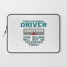 Truck Driver Safety Laptop Sleeve