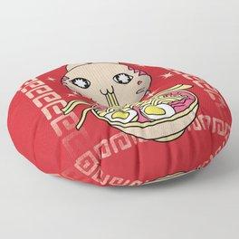 Hungry Ramen Cat / Noodles Japan Floor Pillow