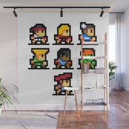 Minimalistic - Street Fighter - Pixel Art Wall Mural