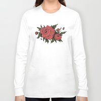 peonies Long Sleeve T-shirts featuring Peonies! by Natalie Clapp