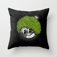 afro Throw Pillows featuring Mundo Afro by Juan Pivaral
