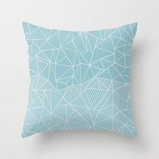 Ab Half and Half Salt Throw Pillow