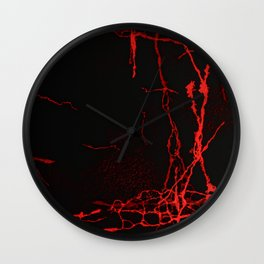 Horror -Dark Red- Wall Clock