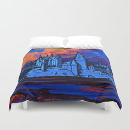 HOGWARTS CASTLE AT PAINTING Duvet Cover