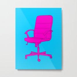 Desk Chair Metal Print