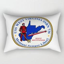 USS WEST VIRGINIA (SSBN-736) PATCH Rectangular Pillow