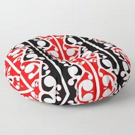 Maori Kowhaiwhai Traditional Pattern Floor Pillow