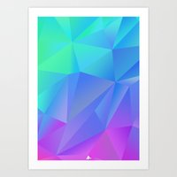 polygon Art Prints featuring Polygon  by D3LT4