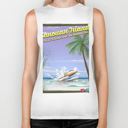 Canouan Islands travel poster Biker Tank