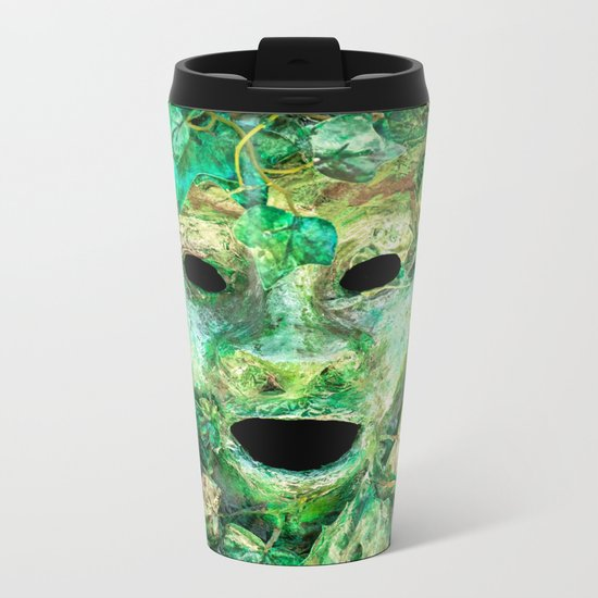 MASKED Metal Travel Mug