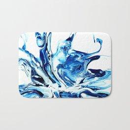 Water, an abstract fluid art piece by Sharon Perry Bath Mat