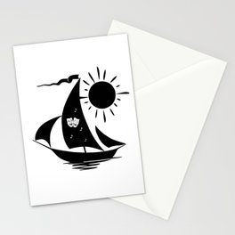 Lazy Day Theater Sailboat Stationery Cards